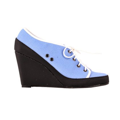 Paule Ka Tri-coloured wedge sneaker