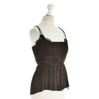 Akris Pleated top with lace