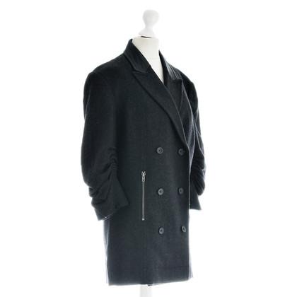 DKNY Cappotto con seta grigio
