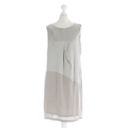Fabiana Filippi Silk dress in silver-grey