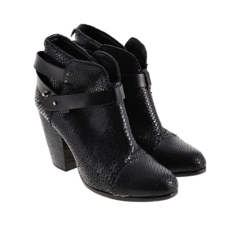 rag bone schwarze ankle boots second hand rag bone. Black Bedroom Furniture Sets. Home Design Ideas