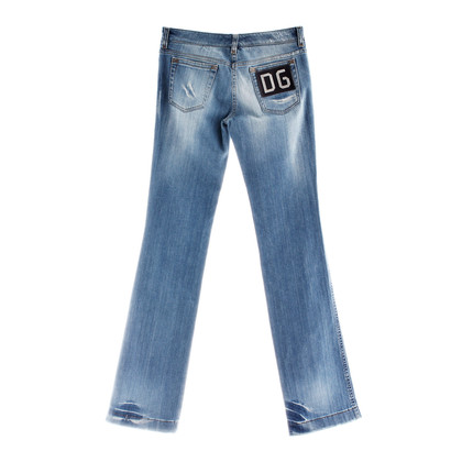 Dolce & Gabbana Blue Jeans con strass