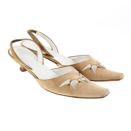Jil Sander Sling pumps in beige