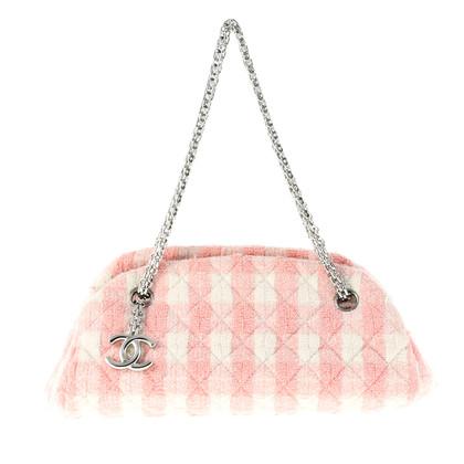 chanel tasche in rosa und wei second hand chanel tasche. Black Bedroom Furniture Sets. Home Design Ideas