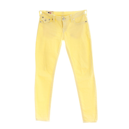 "True Religion Yellow ""Misty"" jeans"