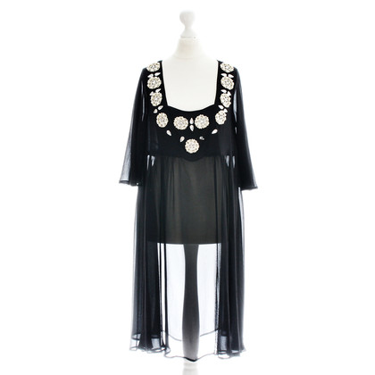 By Malene Birger Silk dress with beaded decoration