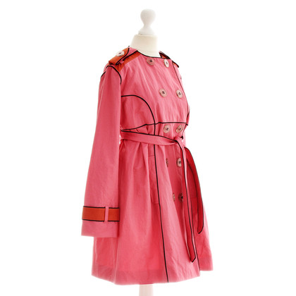 Marcel Ostertag Modern trench in pink