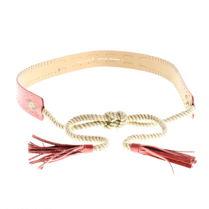 Schumacher Leather belt with cords