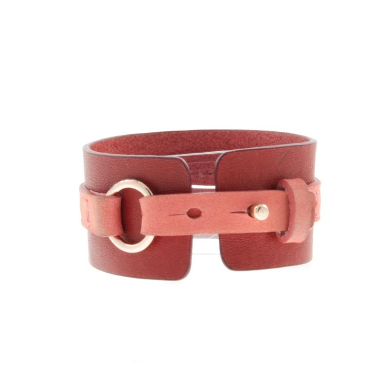 Filippa K Tweekleurige lederen armband