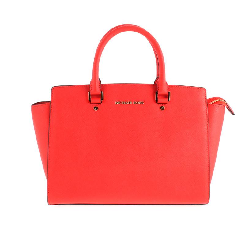 michael kors rote handtasche second hand michael kors. Black Bedroom Furniture Sets. Home Design Ideas