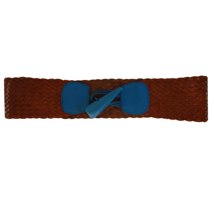 Sonia Rykiel Leather belt with wedge lock