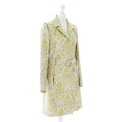 D&G Cappotto jacquard in verde lime