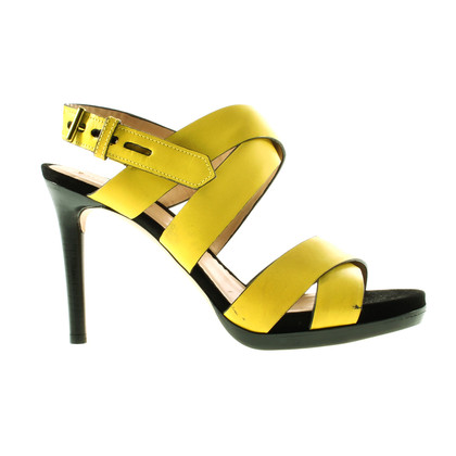 Reed Krakoff Yellow ankle strap sandals