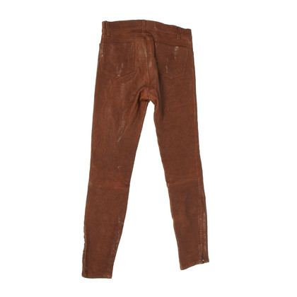 J Brand Leather pants with zipper