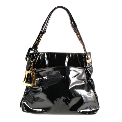 Roger Vivier Paint bag in black and gold