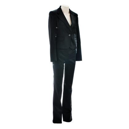 Just Cavalli Satin-Anzug in Schwarz