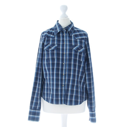 Gant Plaid blouse in blue