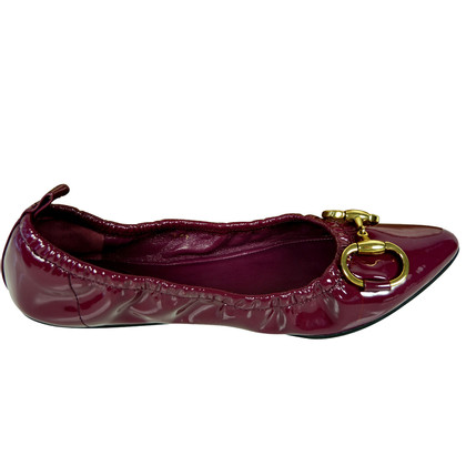 Gucci Ballerinas in patent leather with Horsebit slide