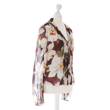 Cacharel Floral print silk blouse