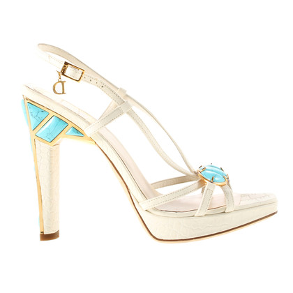Christian Dior Sandals with turquoise