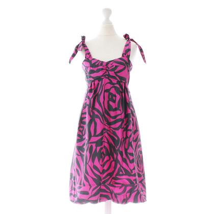 Marc Jacobs Roze print zijden jurk