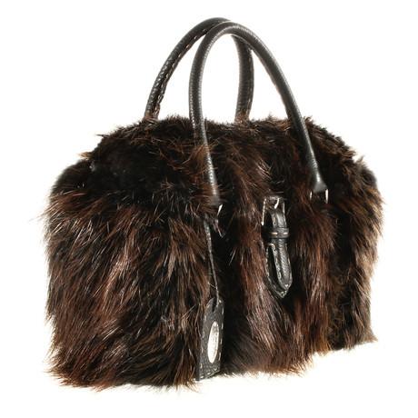 Fendi Tasche mit Fell Braun Auslass 100% Original Rabatt Neue Ankunft Original-Verkauf Online Billig Erstaunlicher Preis XstOEZbX