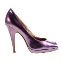 Roberto Cavalli Purple peep-toes