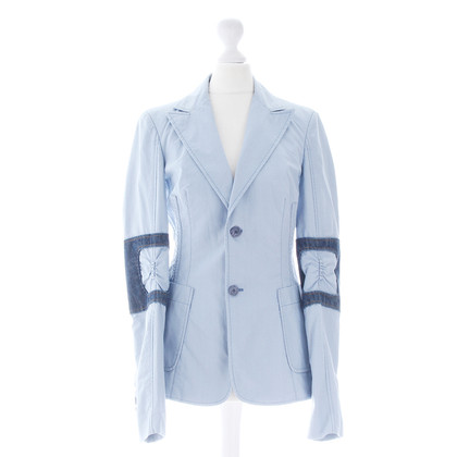 Costume National Blazer con dettagli di denim
