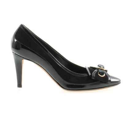 Moschino pumps nero con mix di pelle
