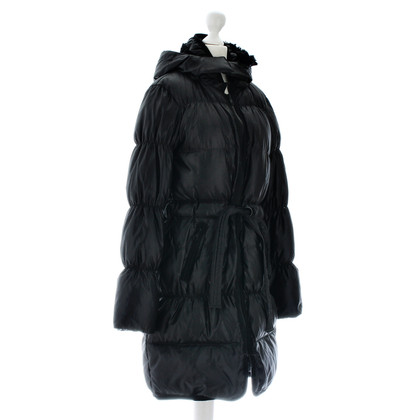 René Lezard Black quilted coat