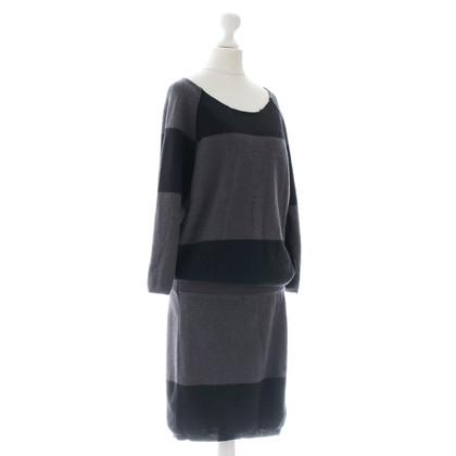 Humanoid Zwart grijs brei jurk