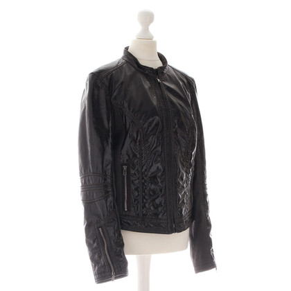 Marc Cain Paint the biker style jacket