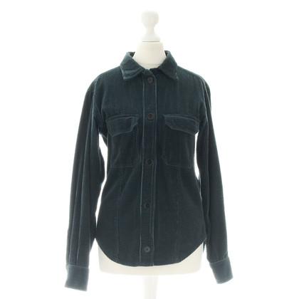 Isabel Marant Etoile Corduroy shirt in groenblauw