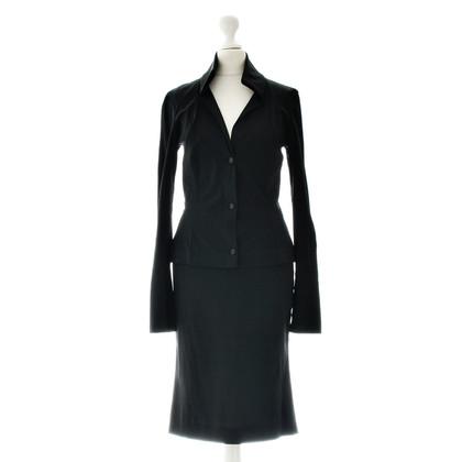 Dolce & Gabbana Zwarte zijden kostuum