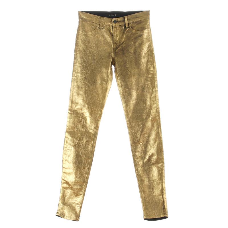 "J Brand Jeans ""Super Skinny"" gold"