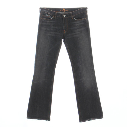 7 For All Mankind Black denim jeans