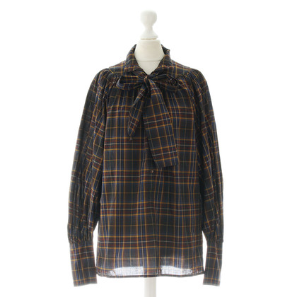 Drykorn Blouse with plaid pattern