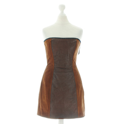 D&G Leather Bustier dress