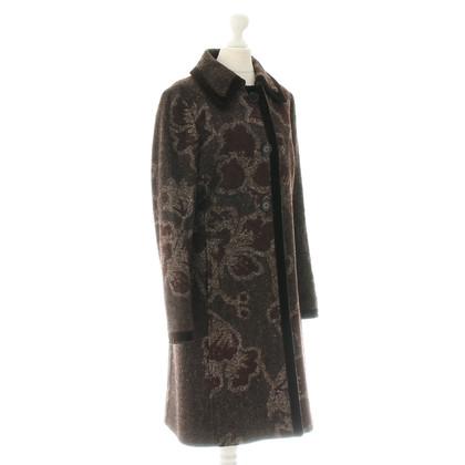 Etro Wollen jas met een patroon mix