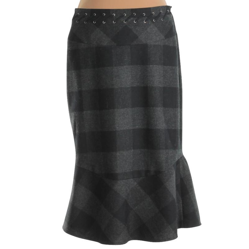 Karen Millen Plaid skirt with wool