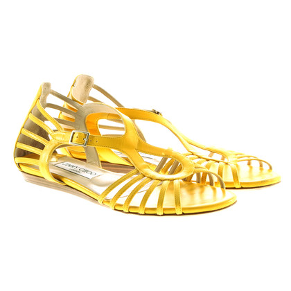 Jimmy Choo Yellow strappy sandals