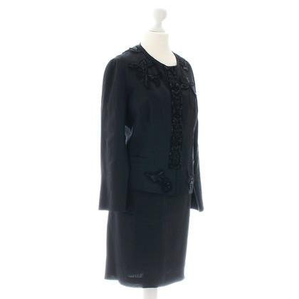 Prada Kostuum met zwarte broderie
