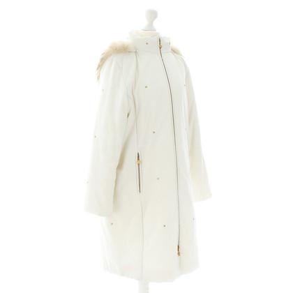MCM White coat with fur