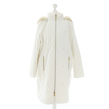 MCM White coat with fur