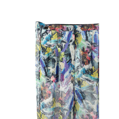 Acne Pantalone in seta multicolor