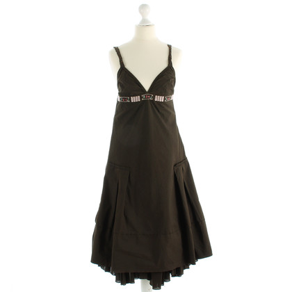 Hugo Boss Brown pinafore dress