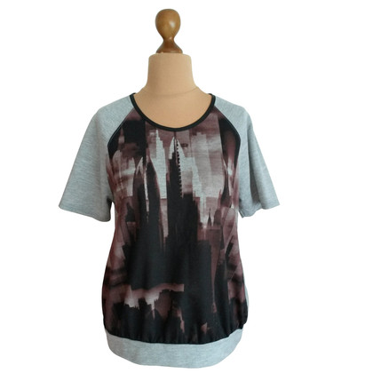 Reiss T-Shirt mit Skyline Print