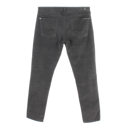 "7 For All Mankind Pantaloni di velluto grigia ""Josefina"""