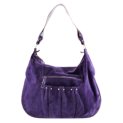 Longchamp Wildledertasche in Violett