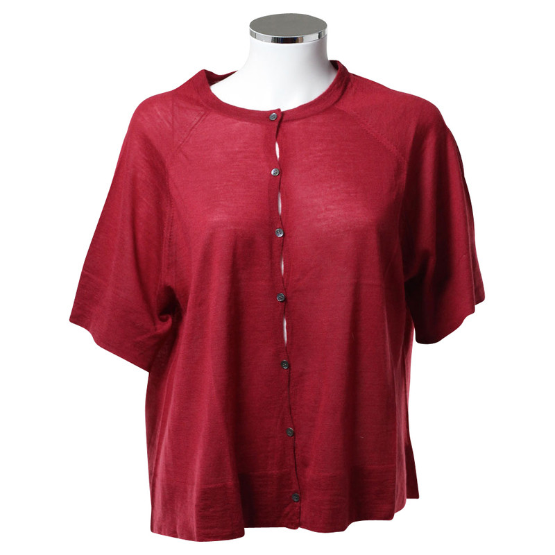 Theory Red short sleeve Cardigan - Buy Second hand Theory Red ...